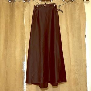 Long satin black skirt